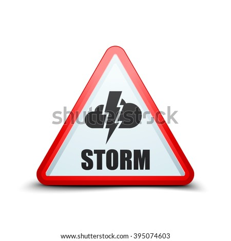 Storm Hazard sign - stock vector