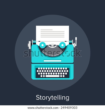 Storytelling - stock vector