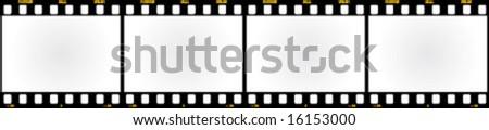 Straight filmstrip. Vector element for design. - stock vector