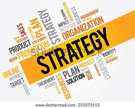STRATEGY word cloud, business concept - stock vector