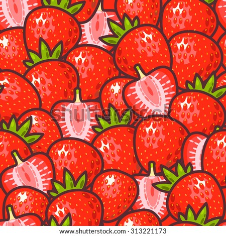 Cute Strawberry Vector Background Stock Vectors & Vector ...
