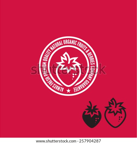 Strawberry Icon. Strawberry label. - stock vector