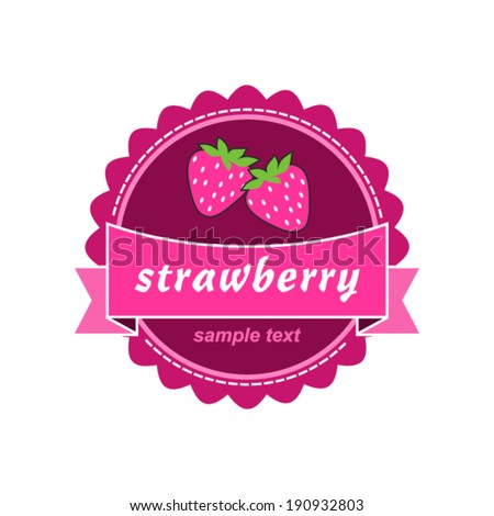 Strawberry labels design.  - stock vector