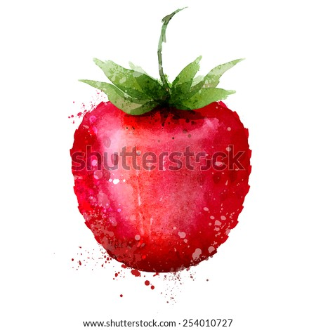 Strawberry vector logo design template. Berry or food icon. - stock vector