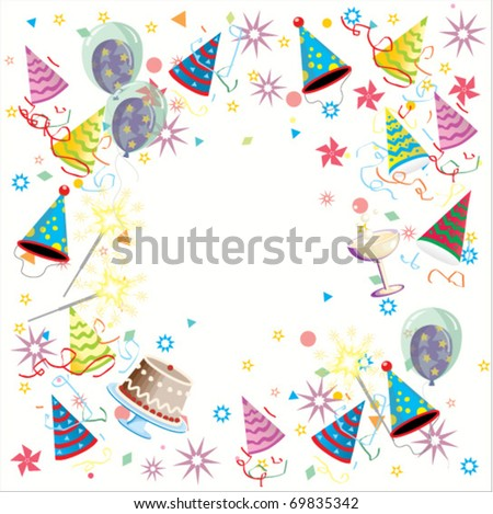 Streaming party background, vector - stock vector