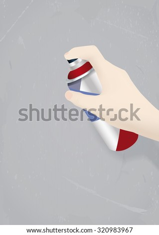 Street art painting action. Vector illustration - stock vector
