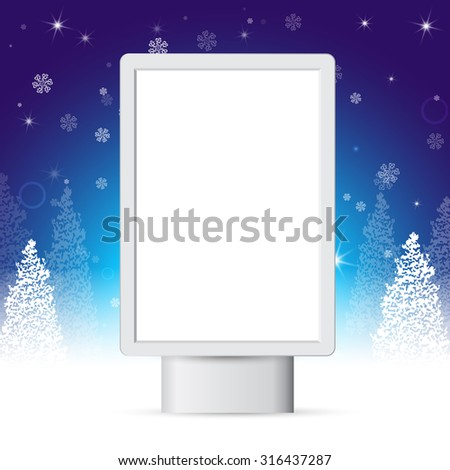 street banners for New Year's greetings, template - stock vector