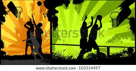 Street Basketball - stock vector