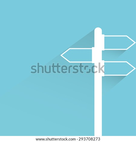 street direction sign - stock vector