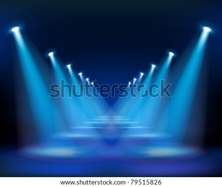 Street in the night. Vector Illustration. - stock vector