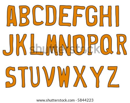 Street letters -  26 Individual Vector Letters (No Open Paths) - stock vector