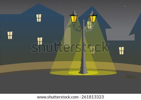 Street light background - stock vector
