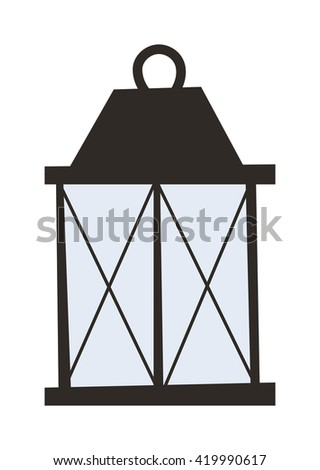 Street light posts and outdoor elements for construction of landscapes. Vector flat illustration street light and street light night road pillar ancient old fashioned lamp. City lantern lamp. - stock vector