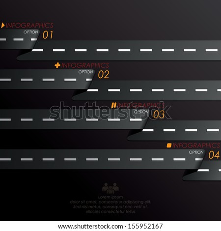 Street Road & Sign Infographics Design Template - stock vector