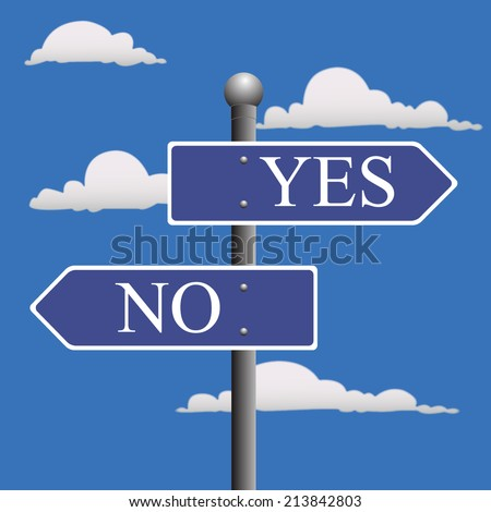 Street, sign, yes, no  - stock vector