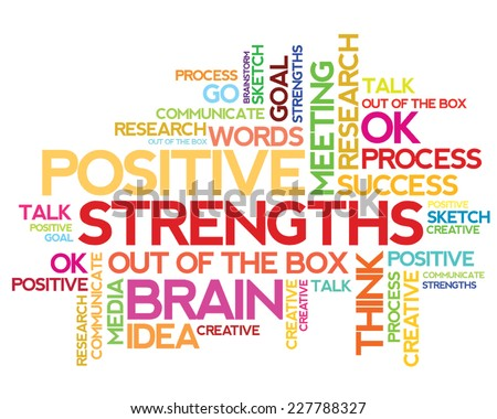 Strengths vector word cloud concept - stock vector
