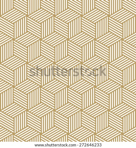 striped cube pattern. seamless vector background. each detail in separate layer. - stock vector