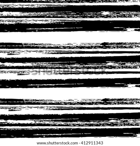Striped grunge black and white texture, vector ink grunge brush. Illustration background - stock vector
