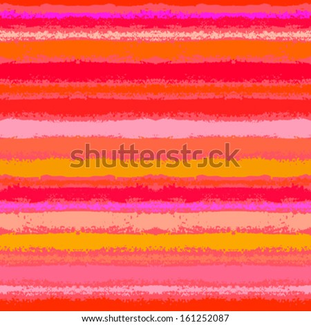 Striped pattern inspired by tropical nature in coral red and orange. Texture for web, print, wallpaper, home decor, spring summer fashion fabric, textile, wedding invitation background, holiday wraps - stock vector