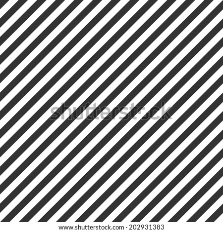 Striped pattern, seamless black and white texture - stock vector