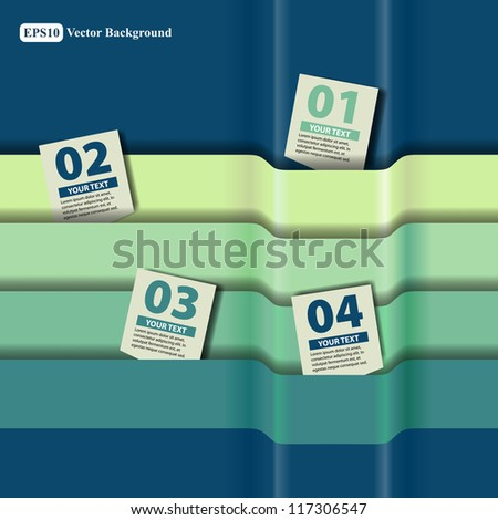 Strips and labels. Elements of infographics - stock vector