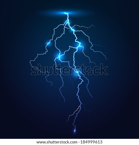 Stroke of lightning. Vector illustration, eps10. - stock vector