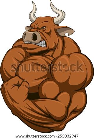 Strong bull - stock vector
