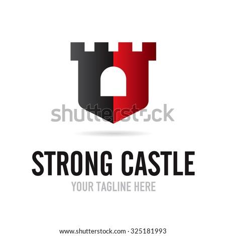Strong Castle Logo - stock vector