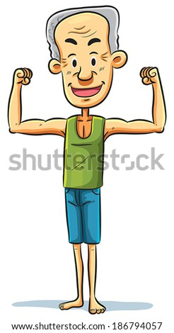 Strong Grandpa - stock vector