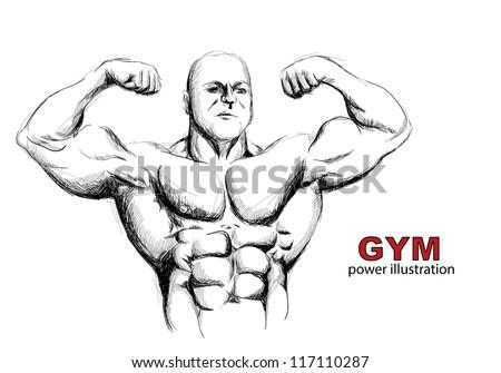 Strong man - stock vector