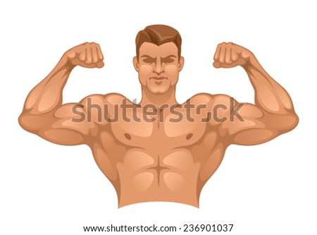Strong man - stock vector