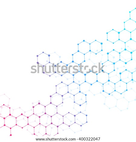 Structure molecule of DNA and neurons. Genetic and chemical compounds. Medicine, science and technology concept. Abstract background. Atom structure. Vector illustration for your design. - stock vector