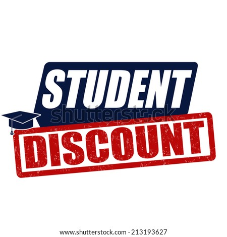 Student discount grunge rubber stamp on white background, vector illustration - stock vector