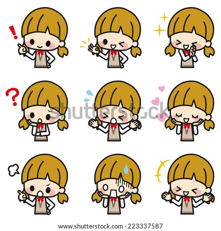 Student girl - stock vector