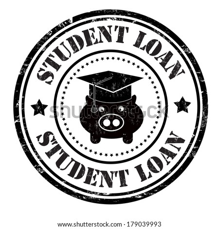 Student loan grunge rubber stamp on white, vector illustration - stock vector