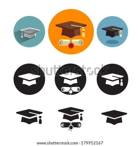Studies icons  - stock vector