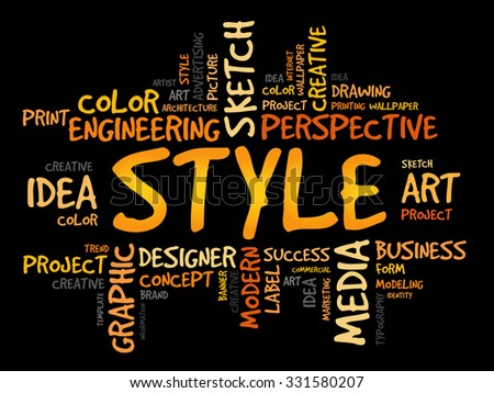 STYLE word cloud concept - stock vector