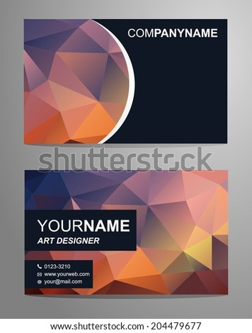 Stylish Abstract Business Card - stock vector