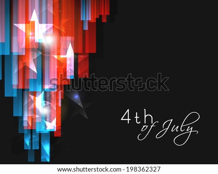 Stylish abstract concept in national flag colours for 4th of July, American Independence Day celebrations.  - stock vector