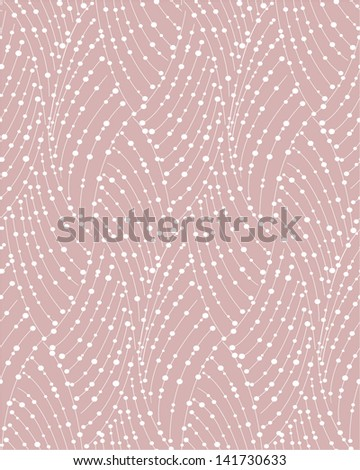 Stylish abstract pattern with dots. Seamless vector background. - stock vector