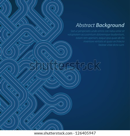 Stylish abstract techno background. Vector illustration - stock vector
