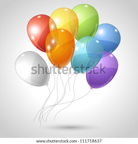 Stylish background with flying balloons. Vector eps 10. - stock vector