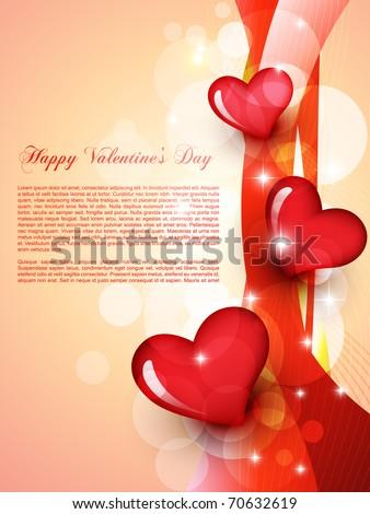 stylish beautiful valentine day heart background - stock vector