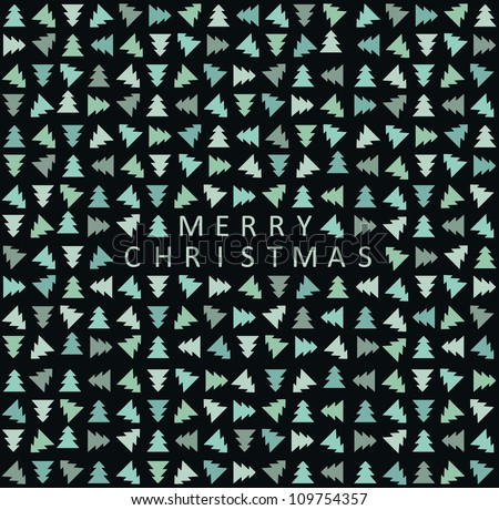 Stylish christmas tree pattern. Vector illustration - stock vector
