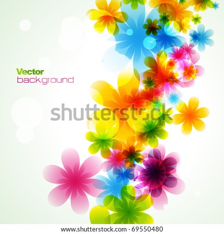 stylish colorful flower. Eps10 vector - stock vector