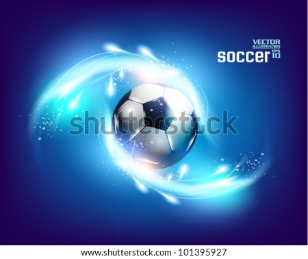 stylish conceptual digital soccer vector design - stock vector