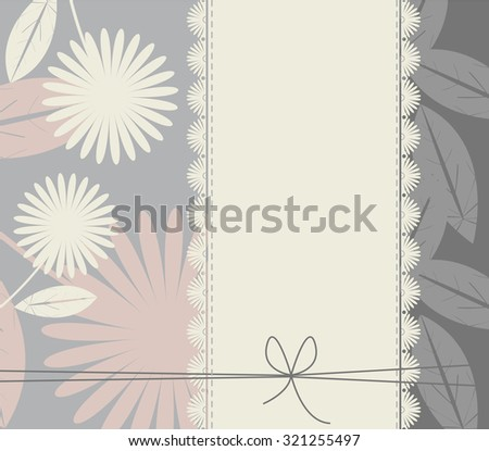 Stylish cover with flowers and leaves for your designs.  Vector template can be used for invitation, greeting card , baby shower and more designs. - stock vector