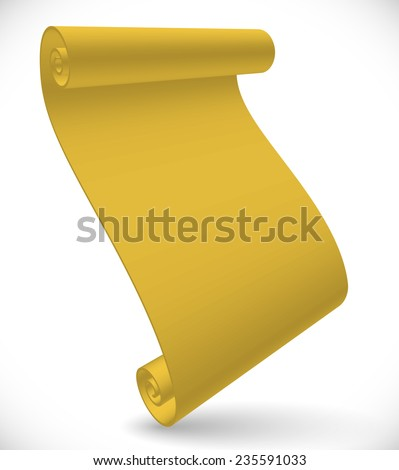 Stylish 3d Papyrus, scroll, parchment - stock vector