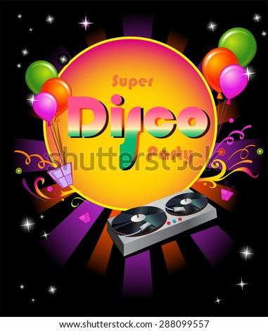 Stylish disco banner Music Concept, Poster Template. - stock vector