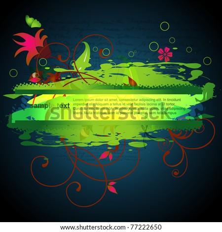 stylish eco land background design - stock vector